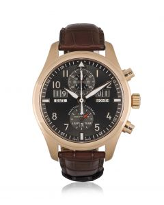 IWC Pilot's Spitfire Chronograph Perpetual Calendar Rose Gold B&P IW379105