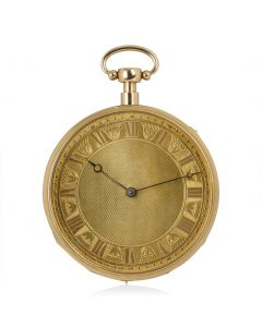 Open Face Musical Quarter Repeater Yellow Gold Pocket Watch
