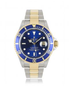 Rolex Submariner Date Stainless Steel & Yellow Gold Blue Dial B&P 16613
