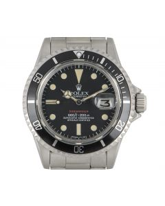 Rolex Rare Submariner Date Red Writing Vintage Stainless Steel Mark VI 1680