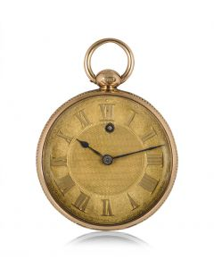 James Squire By Kendal Open Face Pocket Watch Rose Gold