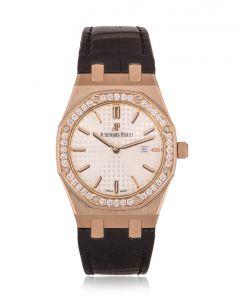 Audemars Piguet Royal Oak Rose Gold Diamond Bezel B&P 67651OR.ZZ.D010CA.01