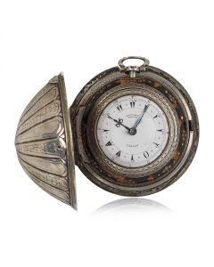 Edward Prior Very Rare Open Face Pocket Watch Antique Silver Four Case Turkish Market