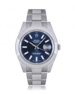 Rolex Unworn NOS Datejust II Stainless Steel Blue Dial B&P 116300