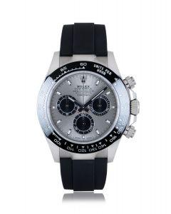 Rolex Unworn Daytona Oysterflex White Gold Steel & Black Dial B&P 116519LN