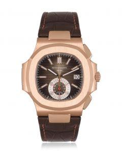 Patek Philippe Unworn Nautilus Chronograph Rose Gold B&P 5980R-001