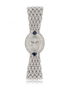 Audemars Piguet Cocktail Dress Watch White Gold Diamond & Sapphire Set 66251BC