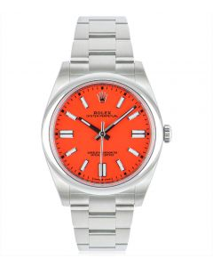 Rolex Oyster Perpetual 41 Coral Red Dial 124300