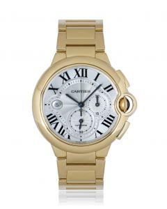 Cartier Ballon Bleu Chronograph Yellow Gold B&P W6920008