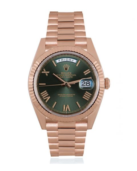 Rolex Day-Date 40 Olive Green Dial 228235