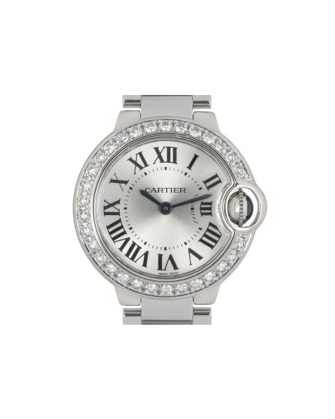 Cartier Ballon Bleu White Gold Diamond Bezel WE9003Z3